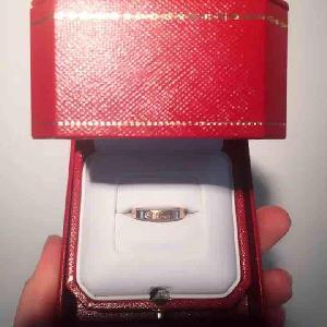 Cartier卡地亚r窄版单钻指环