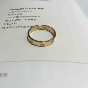 Cartier卡地亚LOVE18K黄金戒指