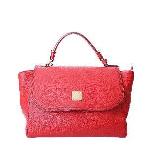 MCM红色手提包