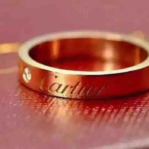 Cartier卡地亚18K玫瑰金戒指