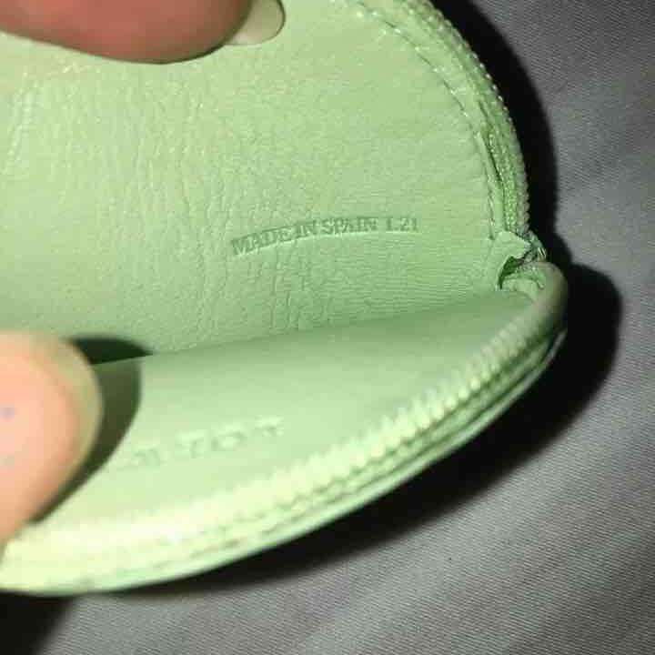 Loewe罗意威马卡龙绿零钱包