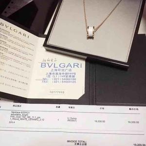 BVLGARI宝格丽白瓷项链