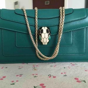 BVLGARI宝格丽绿色手提包