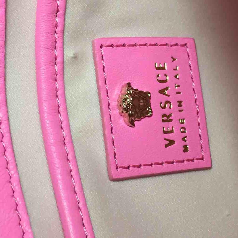 Versace范思哲荧光粉斜挎链条包
