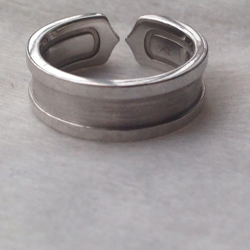 Cartier卡地亚51号白金镶钻天使之吻戒指