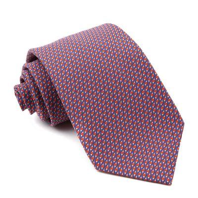 Hermes爱马仕男士斜纹领带