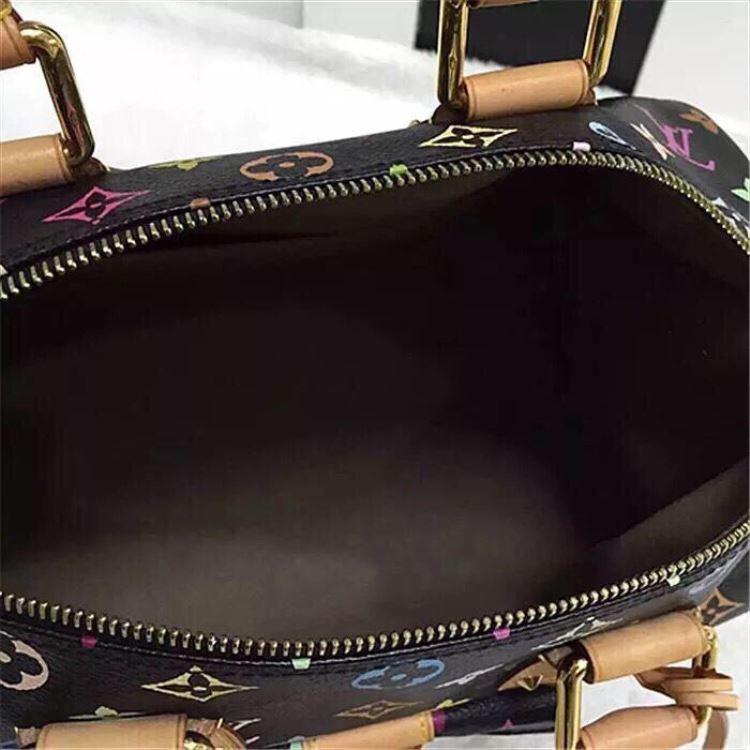 LV路易·威登女士黑三彩手提包