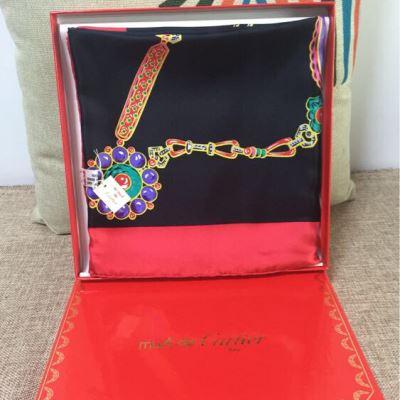 Cartier卡地亚真丝丝巾