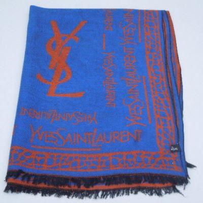 YSL圣罗兰羊绒围巾/披肩