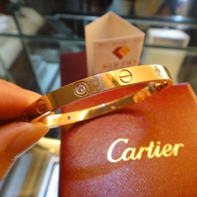 Cartier卡地亚玫瑰金四钻手镯
