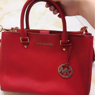 Michael kors红色时尚手提包