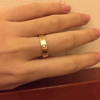 Cartier卡地亚单环带钻戒指