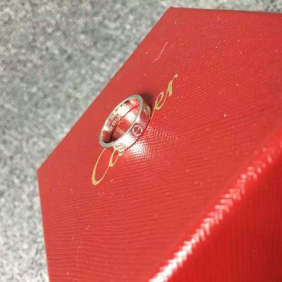 Cartier卡地亚白金戒指