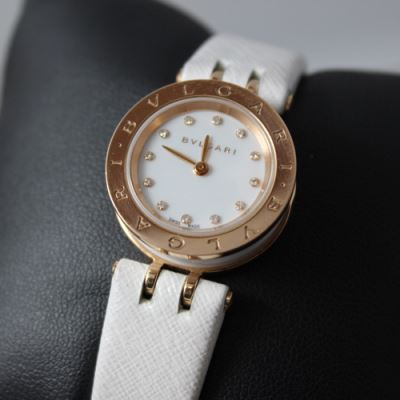 BVLGARI宝格丽18K金石英腕表