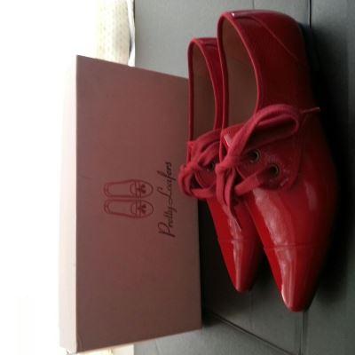 Pretty Ballerinas红色尖头漆皮鞋