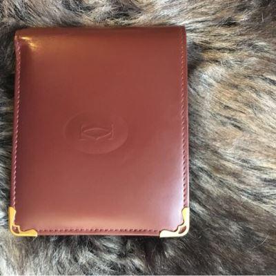 Cartier卡地亚酒红色钱包