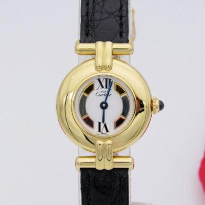 Cartier卡地亚时尚三色盘石英腕表