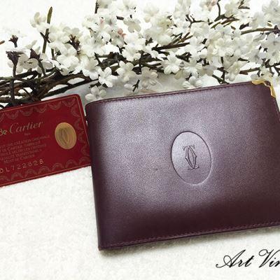 Cartier卡地亚波多尔红短款钱包