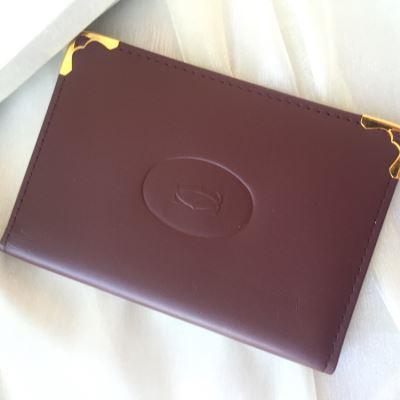 Cartier卡地亚酒红色卡包