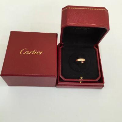 Cartier卡地亚LOVE系列单钻戒指