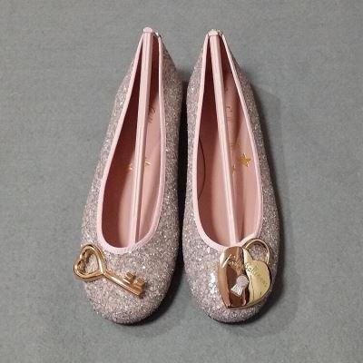 Pretty Ballerinas粉银亮片心平跟鞋