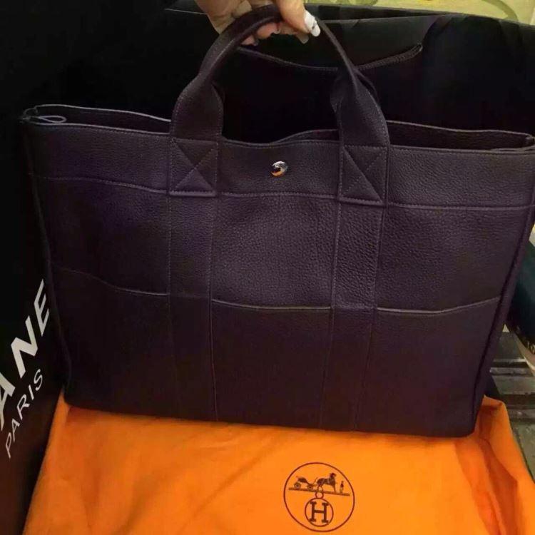 Hermes爱马仕时尚女士暗紫色单肩包