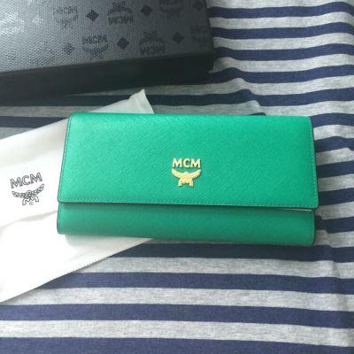 MCM时尚女士绿色钱包