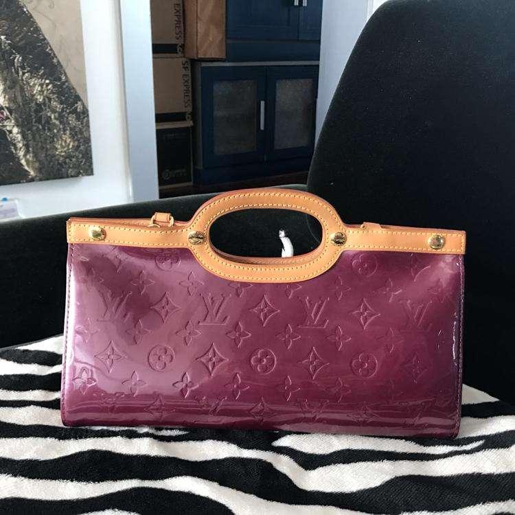 Louis Vuitton路易·威登经典紫色手提单肩手提包