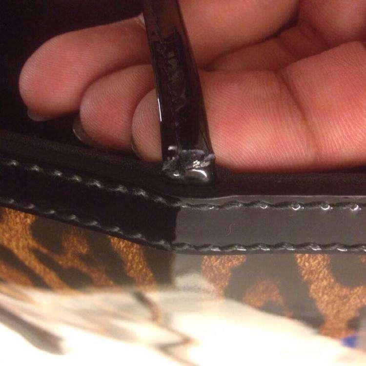 DG杜嘉班纳豹纹漆皮大号手提包