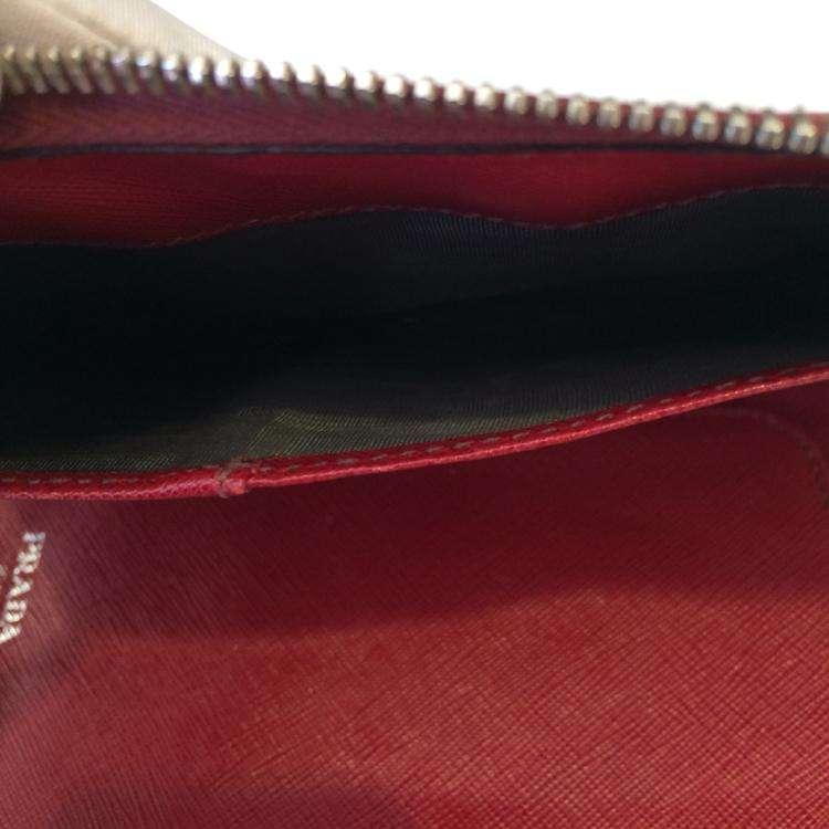 PRADA普拉达红色女士手包