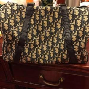 Dior迪奥帆布水桶包包手提包旅行包