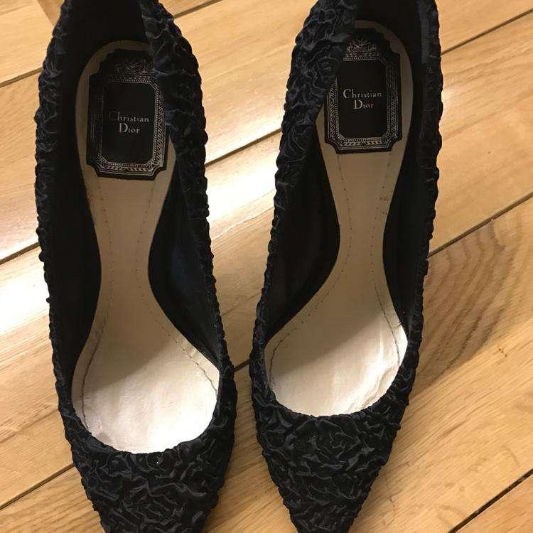 Dior迪奥立体雕花高跟鞋
