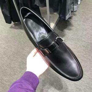 GIORGIO ARMANI黑色皮鞋