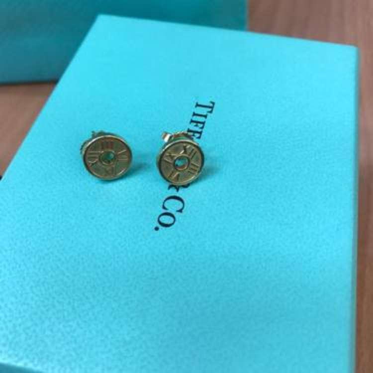 Tiffany & Co.蒂芙尼18k金耳钉