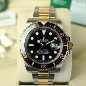 Rolex劳力士间金黑水鬼116613机械腕表