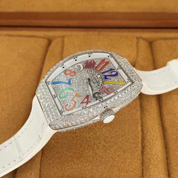 Franck Muller后镶钻石满天星石英腕表