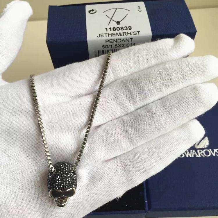 SWAROVSKI施华洛世奇男士骷髅项链