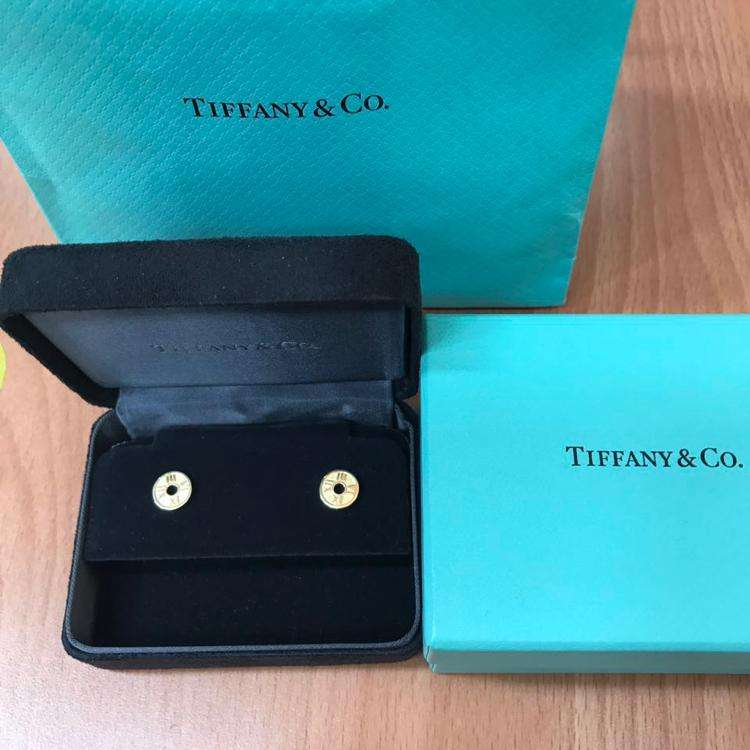 Tiffany & Co.蒂芙尼atlas系列18k金耳钉