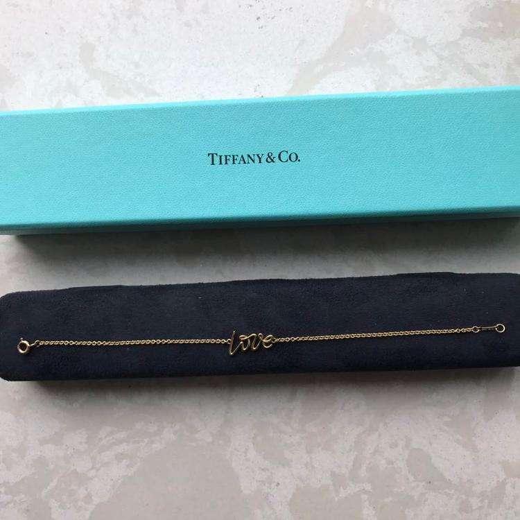 Tiffany & Co.蒂芙尼18k金 paloma picasso love系列手链