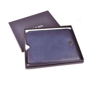 PRADA普拉达深蓝色真皮iPad保护套