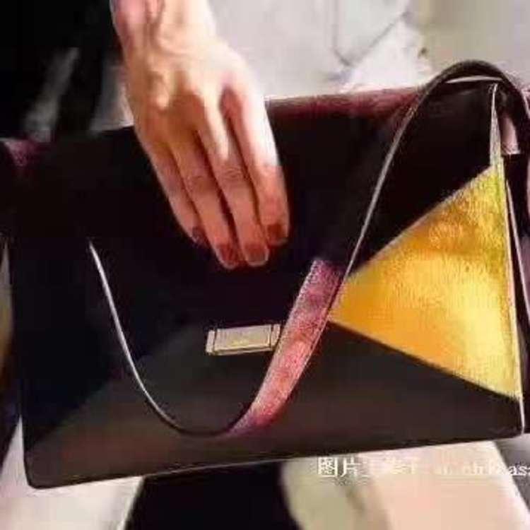 Celine赛琳Diamond系列三拼色信封包