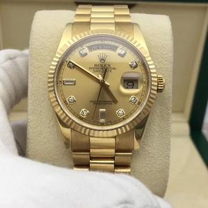 Rolex 劳力士 劳力士星期日历型118238 DD男士机械表大包钻