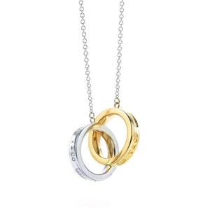 Tiffany & Co. 蒂芙尼金银双环项链