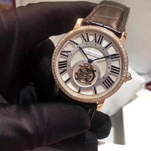 Cartier 卡地亚原镶钻玫瑰金机械腕表