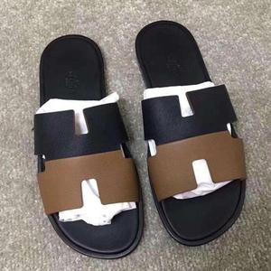 Hermès 爱马仕男士拼色拖鞋