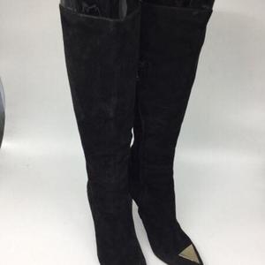 Versace 范思哲绒面高筒靴