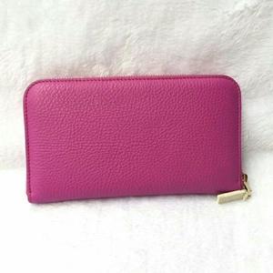 Versace 范思哲玫红色全拉链钱包