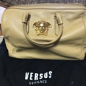 Versace女士经典人头款手提包
