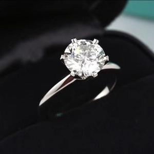 Tiffany & Co. 蒂芙尼PT950铂金钻石戒指