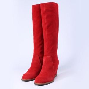 Kate Spade 凯特·丝蓓 翻毛皮坡跟长筒靴